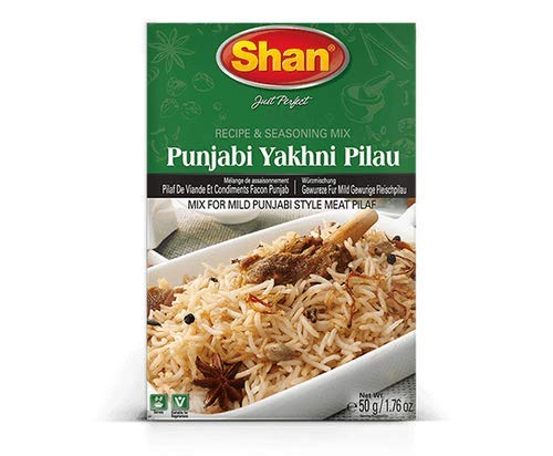 5x Shan Punjabi Yakhni Pilau 50g Gewürzmischung für Fleischpilau