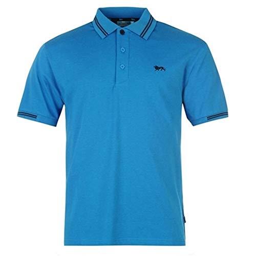 Lonsdale, Herren-Polohemd Gr. S, - Blau/Marineblau
