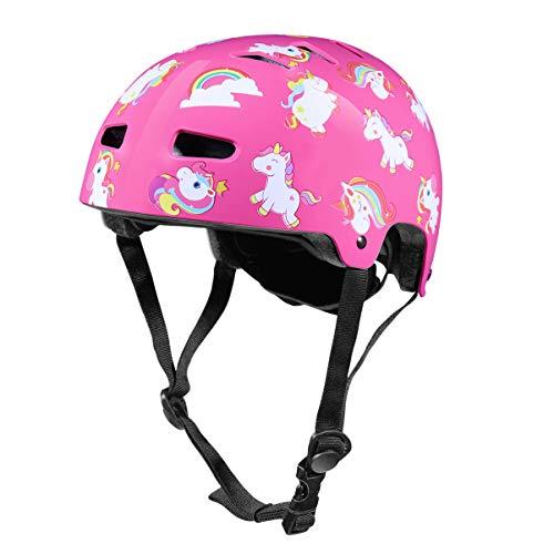 CLISPEED 1Pc Enfants Casque Enfant Casque Sport Équipement de Protection Protecteur de Tête Casque de Sport Casque pour Garçons Filles Sécurité Patinage Scooter Cyclisme Activités Extrêmes - Rose