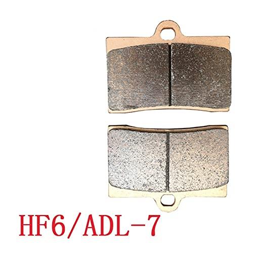 piaopiao Pastillas de Freno de Piezas de Repuesto de Motocicleta Conjunto de Pastillas de Freno ADL-7 HF6 F101 HF6 F101 HF6 F101 Pinza de Freno de Alto Rendimiento (Color : 1 Pair Pads)
