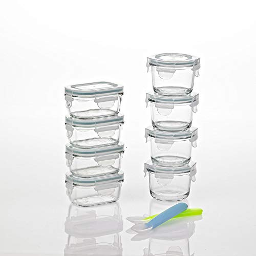 Glasslock Homemade Baby Food BPA Free Glass Storage Containers 18 Piece Set