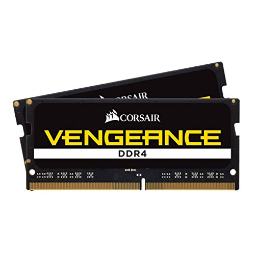 Corsair Vengeance SODIMM 64Go 2x32Go DDR4 2666MHz CL18 Mémoire pour Ordinateurs Portables Support des Processeurs Intel Core™ i5 et i7 de 6ème génération Black