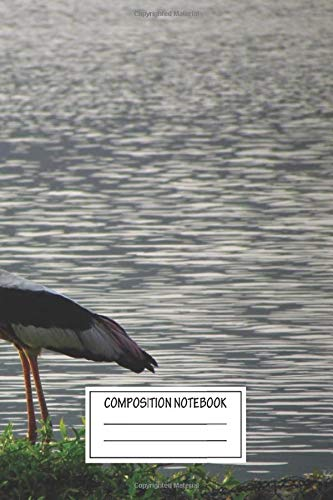 Composition Notebook: Animals Fisherman Crane Was About To Start His Job Birds Wide Ruled Note Book, Diary, Planner, Journal for Writing