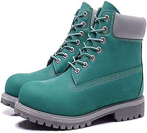 FMWLST Stiefel Herbst Und Winter Stiefel Herren Herren Herren PU Warm Schnee Stiefel Outdoor Casual Martin Stiefel  präsentiert die neuesten High Street Fashion