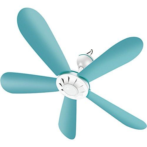 DHGGF Elektrischer Ventilator Mini Kleine Deckenventilator Moskitonetz Schlafsaal zu Hause Kleiner Fan Deckenventilator,Blau,60 cm
