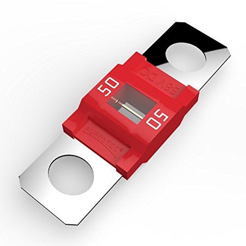 AUPROTEC Midi Hochstromsicherung Schraubsicherung 40A - 100A Auswahl: 50A Ampere rot, 1 Stück
