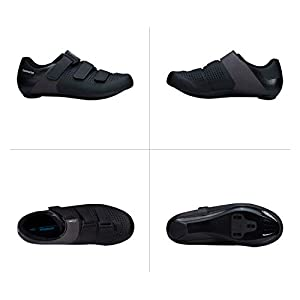 SHIMANO SH-RC100 Feature-Packed Entry Level Road Shoe, Black, Mens EU 44   Mens US 9.5-10
