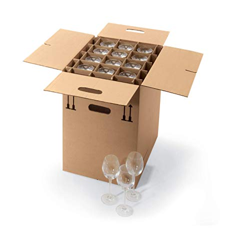 ratioform Gef1 - Caja de cartón para mudanzas, con capacidad para 24...