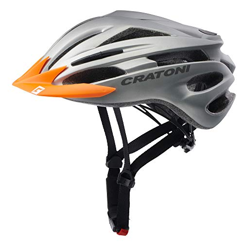 Sonderedition Cratoni Pacer Fahrradhelm Mountainbike Allround Helme (anthrazit Visier orange, L-XL (58-62 cm))