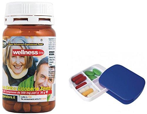 ProstaWell Prostata 60 Tabletten + Tablettenhalter Mit Serenoa Brennnessel Lycopin Zink Naturheilmittel Wellness und Gesundheit