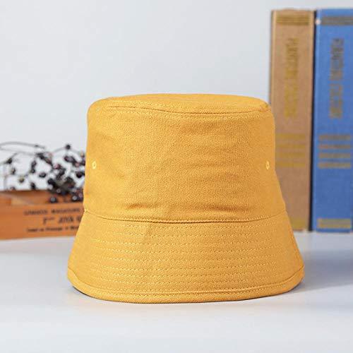 Bucket Hat Chapeau Retro Bucket Hat Pêcheur Chapeaux Hommes Femmes Extérieur D'Été Rue Hip Hop Danseur Coton Panama City Cap Sun Beach Bucket M (55-58Cm) Orange