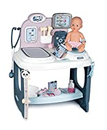 LITTLE DOCTORS: get ready to play paediatrician with the baby care centre. PLAY AREAS AND ACCESSORIES INCLUDED: medical equipment, self adhesive doctor's label, doctor's glasses, electronic tablet (batteries not included) and 30cm doll with wetting f...