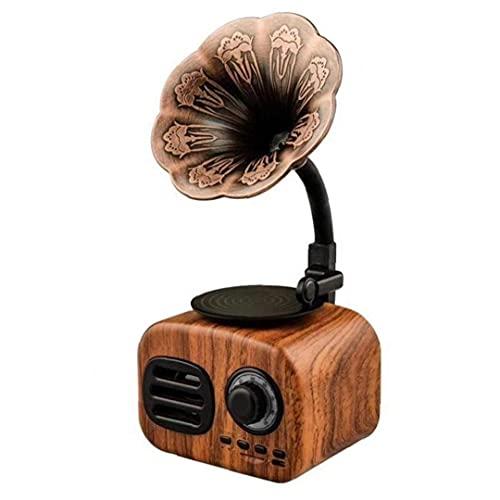 Regalo Creativo Altavoz Retro Sin Hilos Aire Libre del Subwoofer Mini del Teléfono Móvil De Radio Fonógrafo Tarjeta De Audio