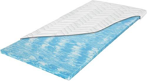 Meos® Gel-Schaum Topper 140x200 für Matratzen & Boxspringbett - Made in Germany - hohes RG 50 - Bezug bis 60°C waschbar - Matratzenauflage (140 x 200 cm)