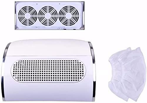 Biutee Model neue Weiß Nail Staubsauger Collector UV Gel-Nagel-Trockner Maschinen mit 3 Ventilatoren Groß eingestellt