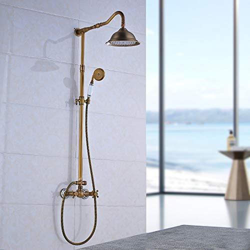 Saeuwtowy - Columna de ducha retro para grifo de ducha o baño (latón envejecido)