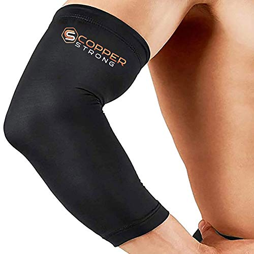 Copper Strong Compression Recovery Elbow Sleeve - Highest Copper Content...
