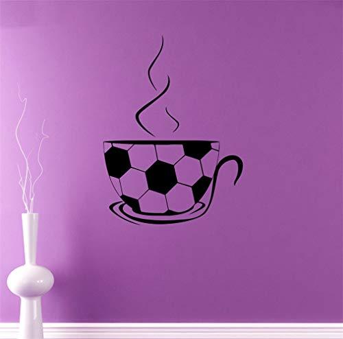 Wandaufkleber Fußball-Tee-Schalen-Muster-Spezieller Entwurfs-Jungen-Schlafzimmer-Dekor Diy