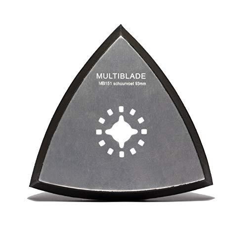Multiblade Professionel Universell Schleifplatte 93x93x93mm (Universal-Schleifpapier) mit Kletthaftung MB151