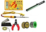 OSFT 8 in 1 Electric Iron Stand Tool Wire Stripper 25 W Welding Stick Soldering Kit with Multimeter and Desoldering Pump