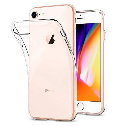 DOSMUNG Hülle Kompatibel mit iPhone SE 2020, iPhone 8/7 Schutzhülle [Stoßfest] [Kratzfeste] Flexible TPU Silikonhülle Dünn Handyhülle für iPhone SE 2020/8/7 (4.7 Zoll)