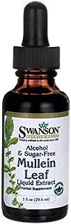 Swanson Mullein Leaf Liquid Extract (Alcohol and Sugar-Free) 1 fl Ounce (29.6 ml) Liquid