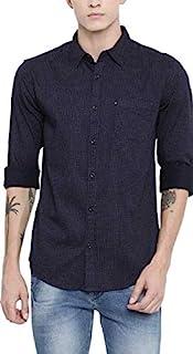 ZAKOD Men's Polka Print Full Sleeve Regular Fit Semi Formal Shirts for Men100% Cotton Shirts,Colour and Size Choose Accord...