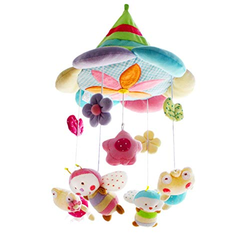 Best Bargain MAJINCGJ Newborn Baby Toy Baby Comfort Toy Music Bed Bell Child Bell Bed Trailer Hangin...