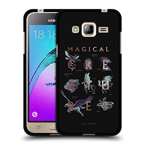 Head Case Designs Oficial Harry Potter Libro de los Monstruos Reliquias de la Muerte XXXI Funda de Gel Negro Compatible con Samsung Galaxy A3 (2017)