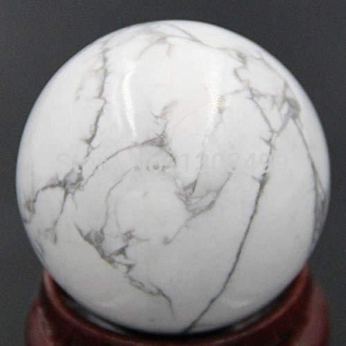 KAPU 40Mm Piedra Preciosa Natural Howlita Blanca Turquesa Esfera Bola De Cristal...