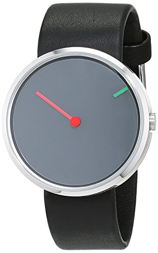 Jacob Jensen Herren-Armbanduhr Analog Quarz Leder 32250