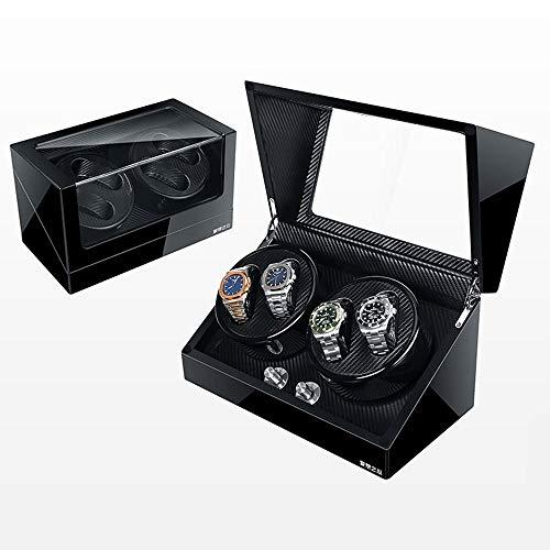 Caja Giratoria para Relojes Enrollador de Reloj 4 + 0, Caja de Madera de Lujo con Doble enrollador de Reloj Caja de Almacenamiento de Reloj (Color : C)