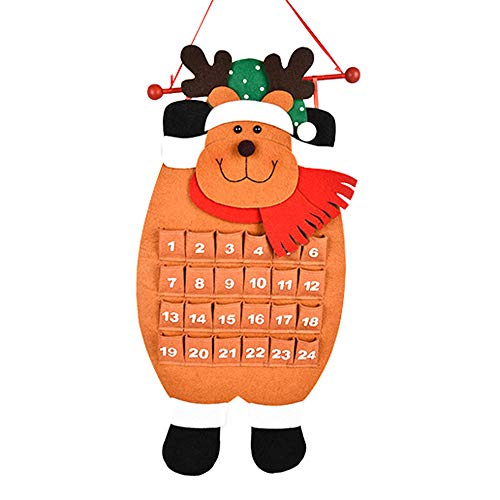 AMUSTER Weihnachten Countdown Kalender Weihnachten Geschenke für Kinder Weihnachtsmann Schneemann Rentier Kalender Advent Countdown Kalender