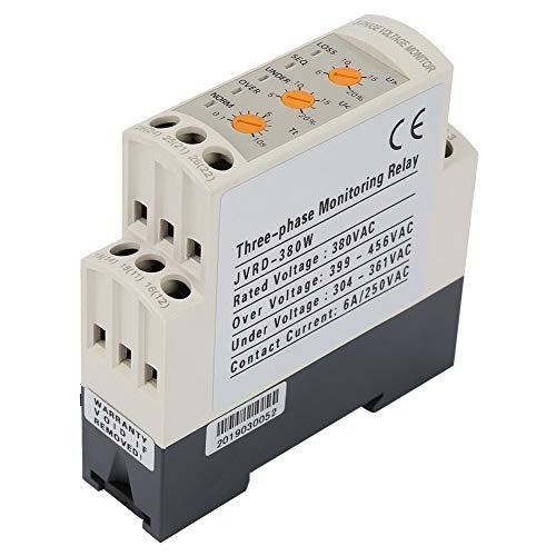 Dreiphasen 399-456VAC Stromkreisschutz 35mm Schiene JVRD-380W Spannungsrelais 5 LED für Elektromotoren