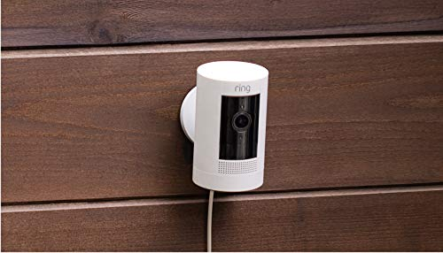 Ring Stick Up Cam Plug-In HD security camera with two-way talk, Works with...