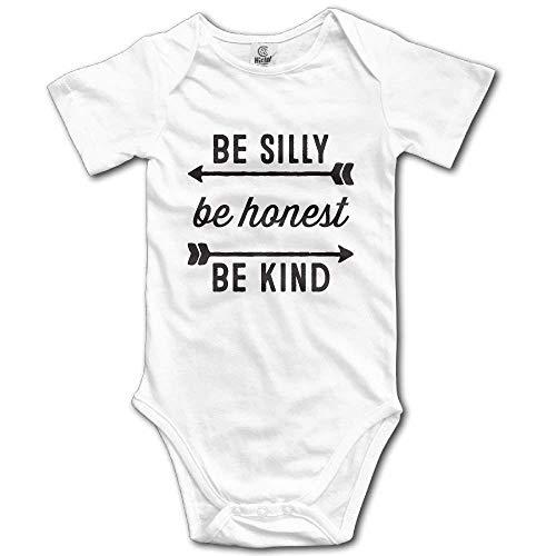 SDGSS Combinaison Bébé Be Silly Be Honest Be Kind Kids Boys Girls Baby Crawl