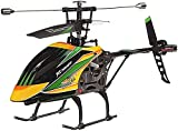 UimimiU 4ch Grande RC Helicopters Kids Toy Single Blade Control Remoto Control Helicóptero con Gyro One Key Despegue/Aterrizaje RC Radio Plano for niños y Principiantes Juguetes educativos Regalo de