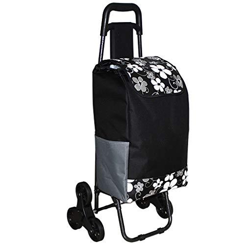 RTTgv Einkaufstrolleys Einkaufswagen faltender Gebrauchsgutwäschewäschereidreiradwarenkorb, Einkaufstasche (Farbe : B)