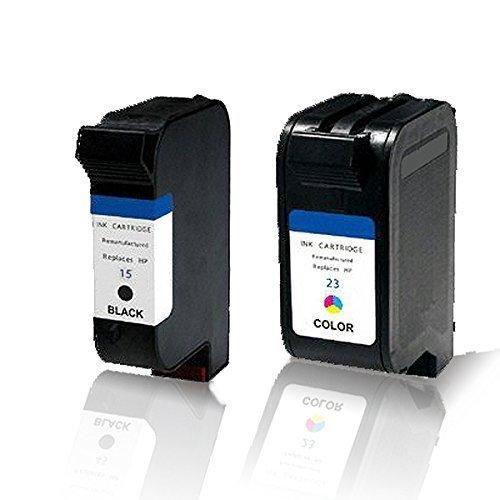 Print-Klex 2x kompatible Tintenpatronen für HP DeskJet 710C DeskJet 712C DeskJet 720C DeskJet 722C DeskJet 815C DeskJet 830C DeskJet 832C 15 + 23 Schwarz Farbig Sparset (Alle Farben) C6615DE C6615NE C1823DE