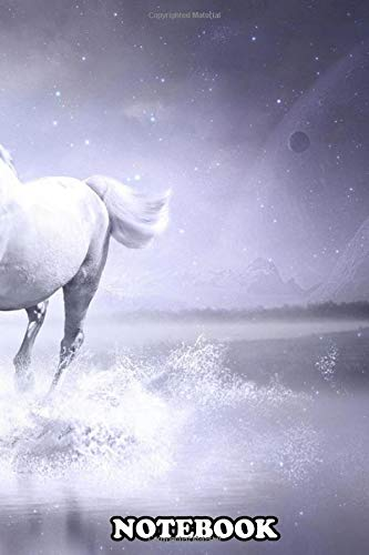 Notebook: White Horse , Journal for Writing, College Ruled Size 6