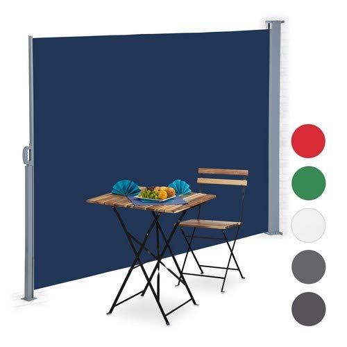 Relaxdays Toldo Lateral Extensible, Protección Solar UV, Pantalla de privacidad, 180x300 cm,...