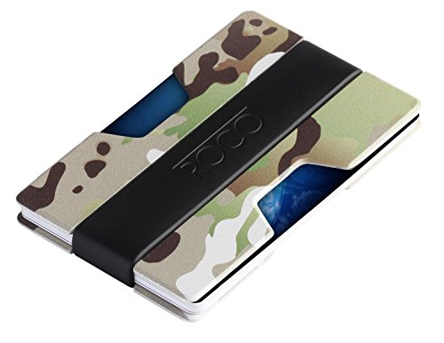 ROCO MINIMALIST Aluminum Slim Wallet RFID BLOCKING Money Clip - No.2 (Camo)