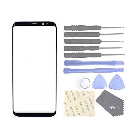 VEKIR Pantalla de reparación de Vidrio para Samsung Galaxy S8 (Negro)