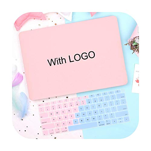 Shine Plastic Hard Shell Case Keyboard Cover for for MacBook Air Pro Retina 12 13 15 16 inch Touch bar 2020 A2179 A2159 A1932 Case-Baby pink cut-Pro 15 (A1707 A1990)