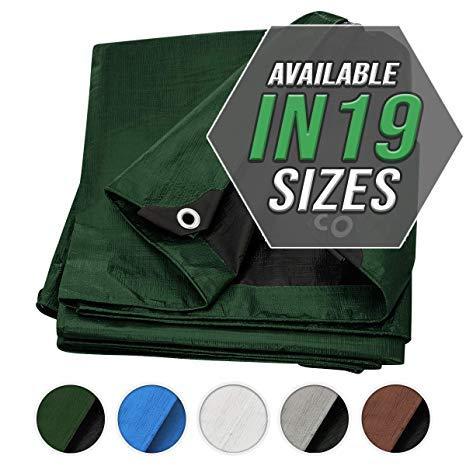 Cubierta de Lona de verde/negra de Alta Resistencia (Heavy Duty), ¡Resistente al agua, Grandioso para Tiendas de Campaña de Lona, Botes, RV o Cubiertas para Piscinas!