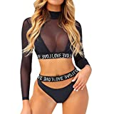 Bikinis Mujer 2019 Push up Blusa Sexy Traje de baño Dividido Color sólido Bohemio BañAdores con Relleno Sujetador Tops y Braguitas Ropa de Playa vikinis Tallas Grandes riou
