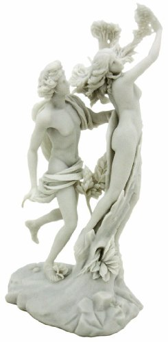 Top Collection Apollo and Daphne Replica Statue - Apollo and Daphne, by Gian Lorenzo Bernini Sculpture in Premium Cold-Cast Marble - 14-inch Greek Mythology Collectible Figurine