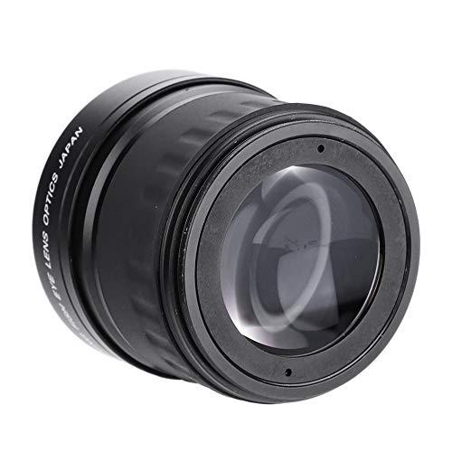 Exliy Lente Gran Angular Fisheye, Lente Gran Angular Profesional HD 58mm 0.21X, Lente Ojo de pez para Canon, Nikon, Sony, Minolta, Pansonic