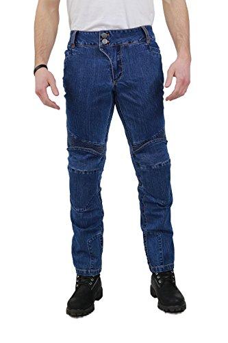 Nerve Ranger Herren Motorrad Jeans Hose, Blau, XXL