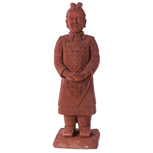 Figura de Guerrero de cerámica marrón Oriental para decoración de Exterior - LOLAhome